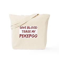Tease aPekepoo Tote Bag