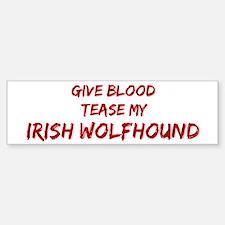 Tease aIrish Wolfhound Bumper Bumper Bumper Sticker
