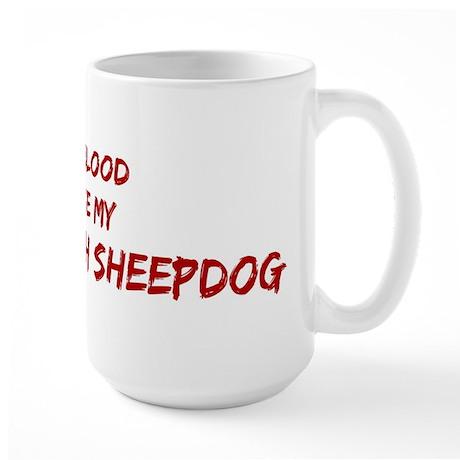 Tease aOld English Sheepdog Large Mug
