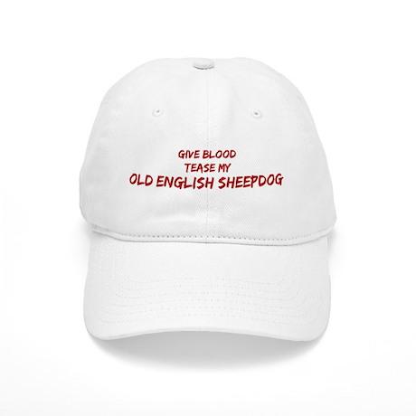 Tease aOld English Sheepdog Cap