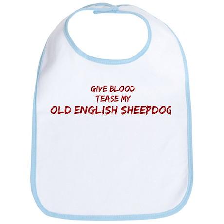 Tease aOld English Sheepdog Bib