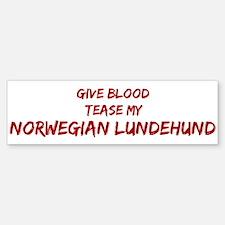 Tease aNorwegian Lundehund Bumper Bumper Bumper Sticker