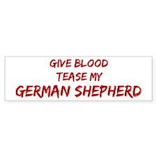 Tease aGerman Shepherd Bumper Car Sticker