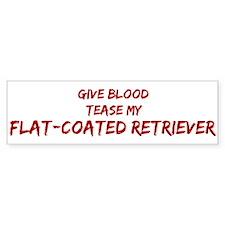 Tease aFlat-Coated Retriever Bumper Bumper Sticker
