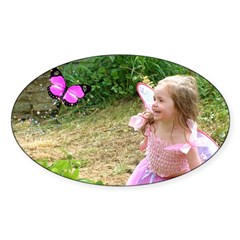 Little Pink Fairy Oval Decal