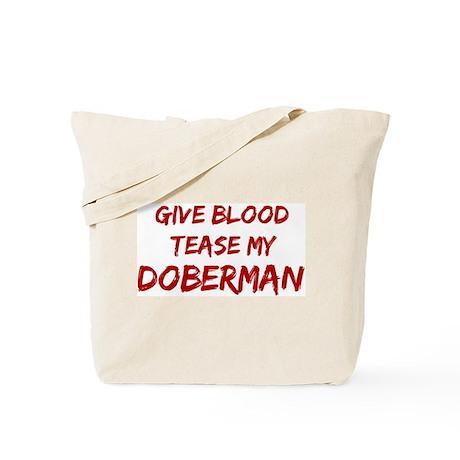 Tease aDoberman Tote Bag