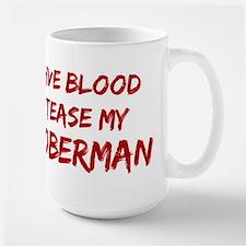 Tease aDoberman Large Mug