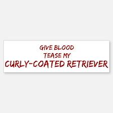 Tease aCurly-Coated Retriever Bumper Bumper Bumper Sticker