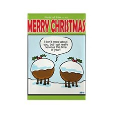 Christmas Pudding cattle Rectangle Magnet
