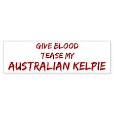 Tease aAustralian Kelpie Bumper Car Sticker