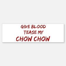 Tease aChow Chow Bumper Car Car Sticker