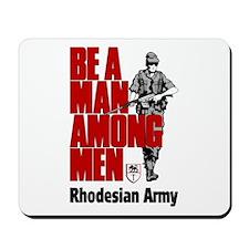 Rhodesian Recruiting Poster Mousepad
