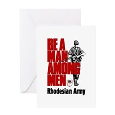 Rhodesian Recruiting Poster Greeting Card