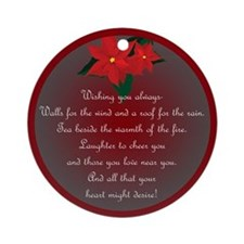 Irish Christmas Blessing Ornament (Round)