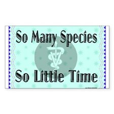 So Many Species Rectangle Decal