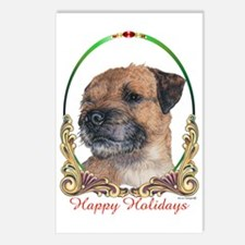 Border Terrier Holiday Postcards (Package of 8)