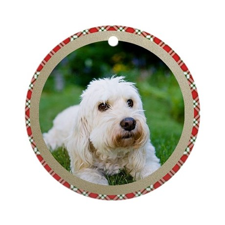 goldendoodle christmas ornament round