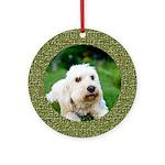 Puzzle Goldendoodle Ornament (Round)