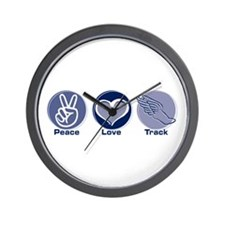 Peace Love Track Wall Clock