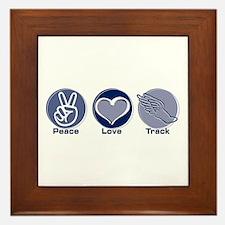 Peace Love Track Framed Tile