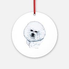 Bichon Frise Portrait Ornament (Round)