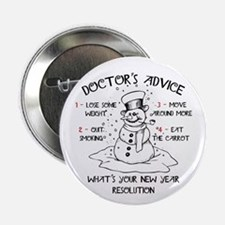 """Doctor's Advice 2.25"""" Button"""
