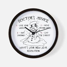Doctor's Advice Wall Clock