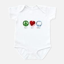 Peace Love Herding Infant Bodysuit