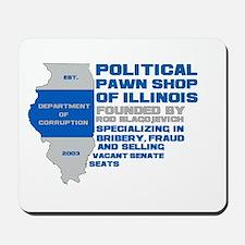 Illinois Political Pawn Shop Mousepad
