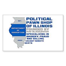 Illinois Political Pawn Shop Rectangle Decal