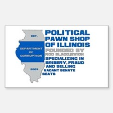 Illinois Political Pawn Shop Rectangle Decal