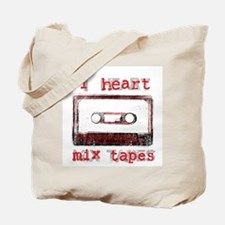 I Heart Mix Tapes Tote Bag