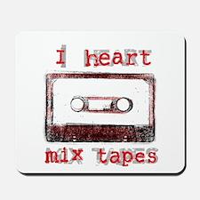 I Heart Mix Tapes Mousepad