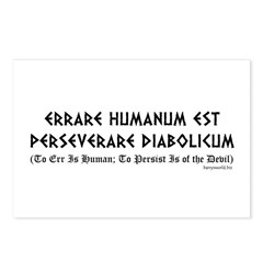 Errare Humanum Postcards (Package of 8)
