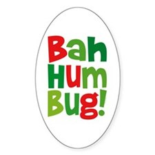 Bah Humbug Oval Decal