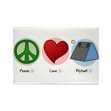 Peace Love Flyball Rectangle Magnet