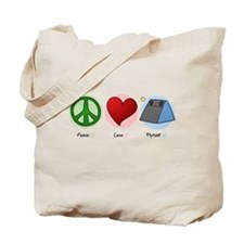 Peace Love Flyball Tote Bag