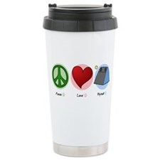 Peace Love Flyball Travel Mug