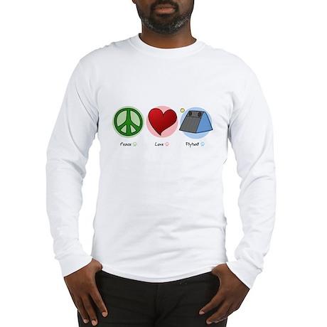 Peace Love Flyball Long Sleeve T-Shirt