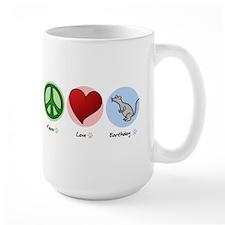 Peace Love Earthdog Mug