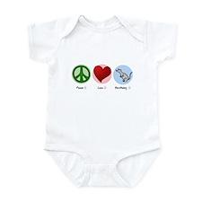 Peace Love Earthdog Infant Bodysuit