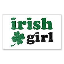 Irish Girl Rectangle Decal