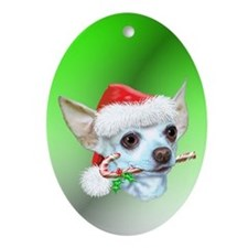 Chihuahuas Christmas Oval Ornament