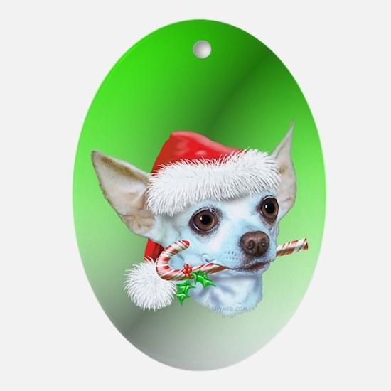 Chihuahuas Christmas Oval Ornament