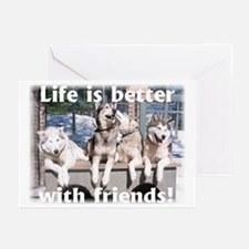 Cute Sled dog Greeting Cards (Pk of 10)