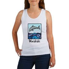 Whammy Surf Waikiki Dolphin Women's Tank Top