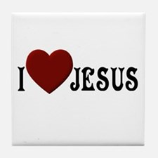 I Love Jesus Tile Coaster