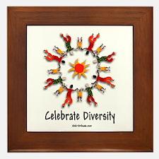 Diversity People Framed Tile