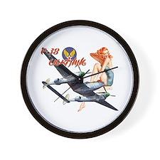 WWII P-38 Lightning Wall Clock