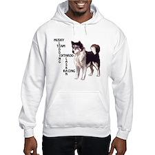Husky dog Crossword Hoodie